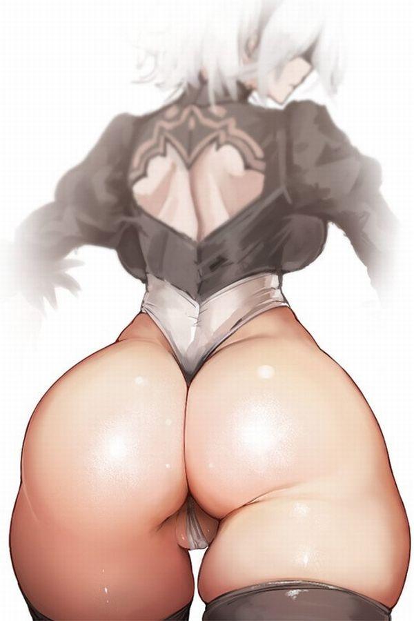【汗まみれの肛門を】Tバック尻をアップで眺める二次エロ画像【くんかくんかしたい】【39】