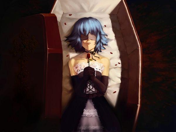 【これから埋葬かな?】棺桶と女の子の二次エロ画像【14】
