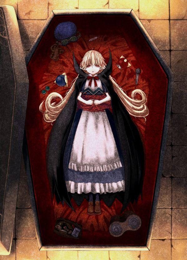 【これから埋葬かな?】棺桶と女の子の二次エロ画像【27】