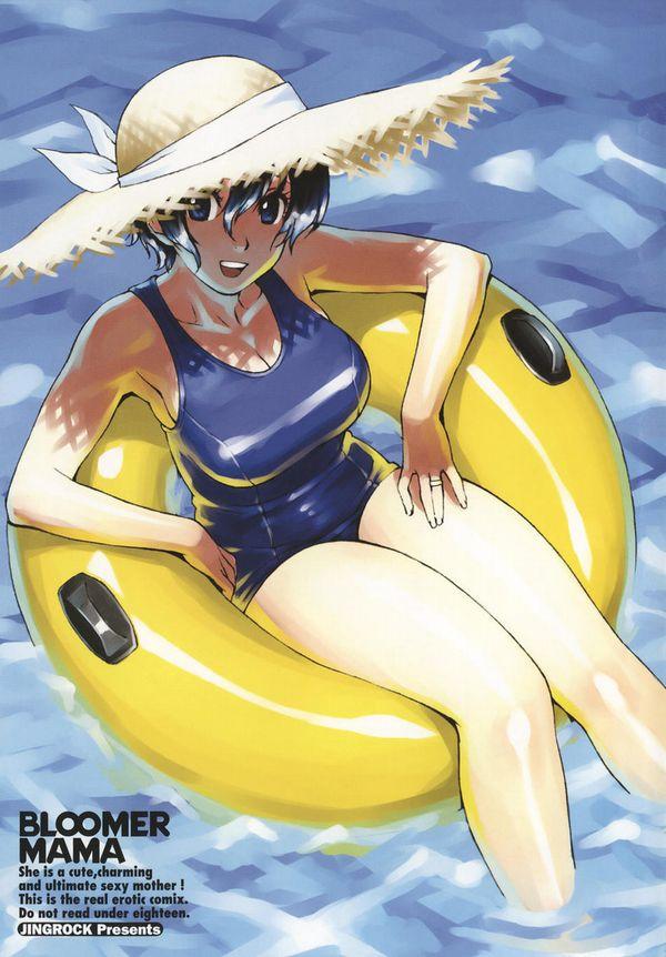 【恥じらう様子が良い】オバちゃん・熟女が水着着てる二次エロ画像【18】