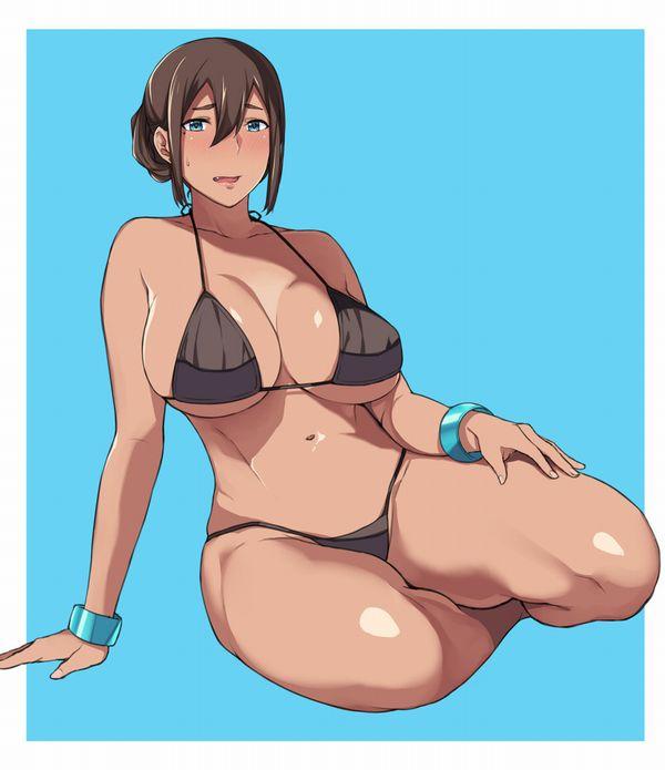 【恥じらう様子が良い】オバちゃん・熟女が水着着てる二次エロ画像【27】