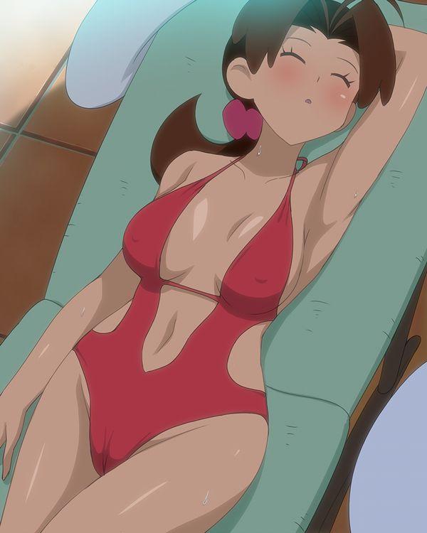 【恥じらう様子が良い】オバちゃん・熟女が水着着てる二次エロ画像【29】