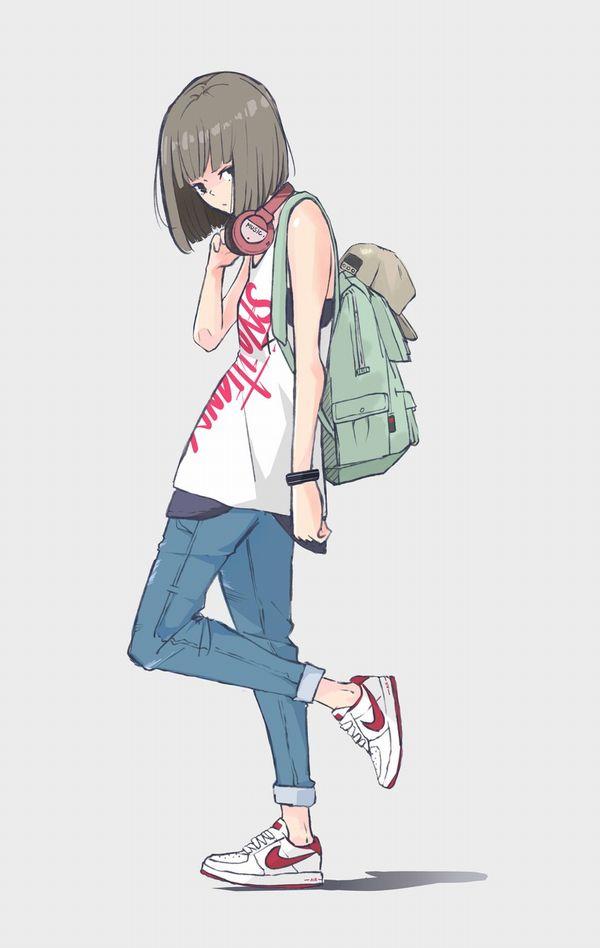 【ハイテクスニーカーブーム再来!】ナイキのスニーカーを履いた女の子達の二次画像【10】
