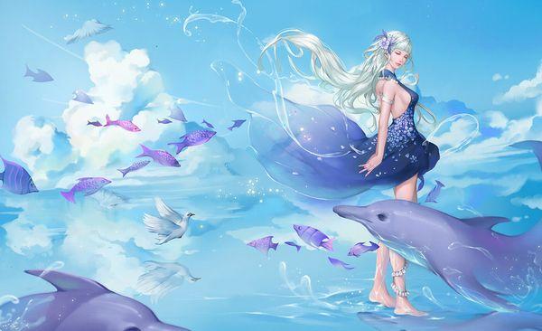 【キュキュキュ】イルカと美少女の二次画像【キュキュキュっキュー】【23】