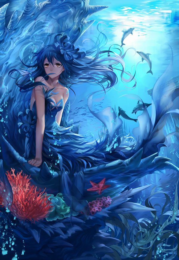【キュキュキュ】イルカと美少女の二次画像【キュキュキュっキュー】【39】