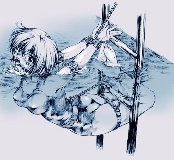 【溺れる!溺れる!】水に沈められてる女子達の二次リョナ画像【19】