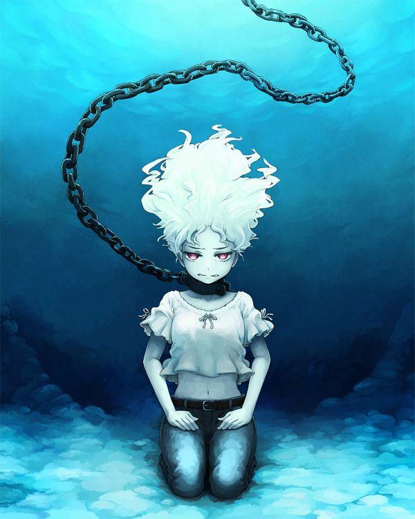 【溺れる!溺れる!】水に沈められてる女子達の二次リョナ画像【21】