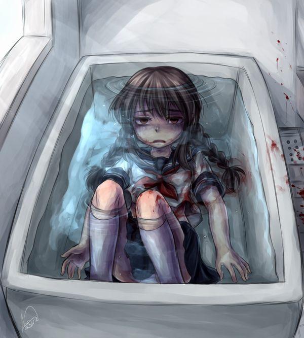 【溺れる!溺れる!】水に沈められてる女子達の二次リョナ画像【26】