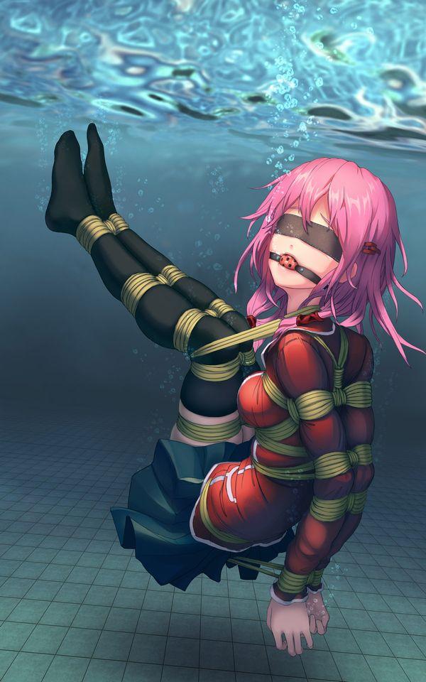 【溺れる!溺れる!】水に沈められてる女子達の二次リョナ画像【38】