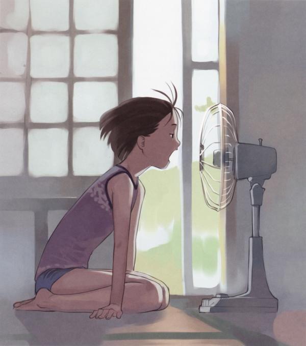 【みんな一度は通る道】扇風機に「ア゛ーーーッ」ってやってる女子達の二次画像【14】