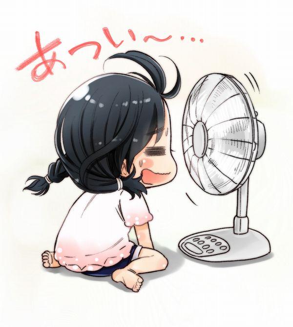 【みんな一度は通る道】扇風機に「ア゛ーーーッ」ってやってる女子達の二次画像【37】