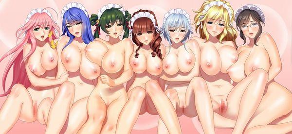 【男の存在しない世界】裸の女の子達がいっぱい!な、二次エロ画像【6】