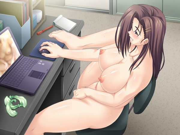 【夏はガチでこういう子居そう】全裸でPC前に居る女子達の二次エロ画像【13】