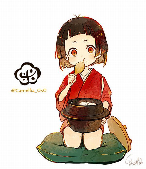 【生まれた時からどんぶりめし】大盛りのご飯食べてる女子達の二次画像【35】