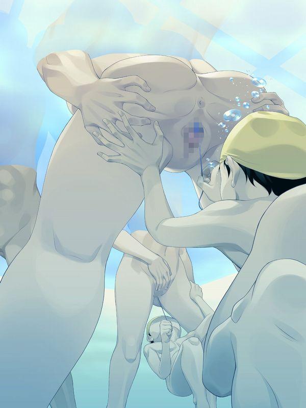 【そうか…脱げばいいんだ】女の子が全裸で泳いでる二次エロ画像【2】