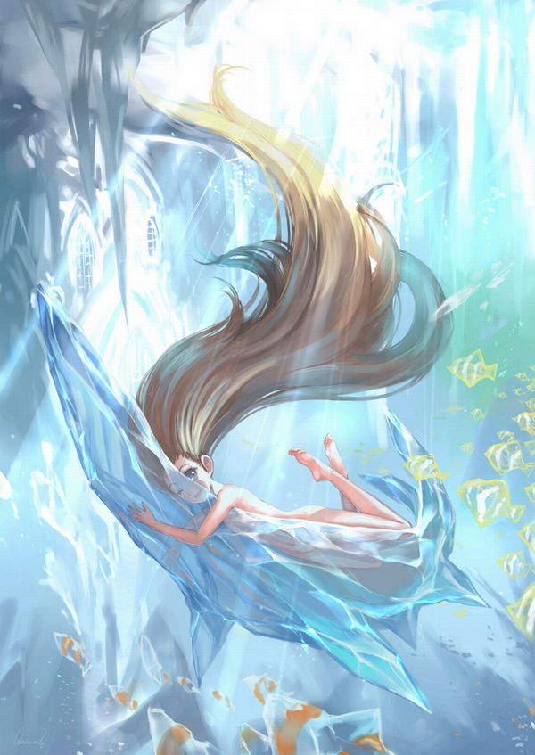 【そうか…脱げばいいんだ】女の子が全裸で泳いでる二次エロ画像【9】