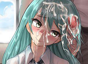 【洗うの大変そう】髪の毛に大量のザーメンぶっかけられてる二次エロ画像