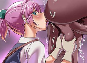 【ご奉仕】女の子が男の肛門を舐めている二次エロ画像