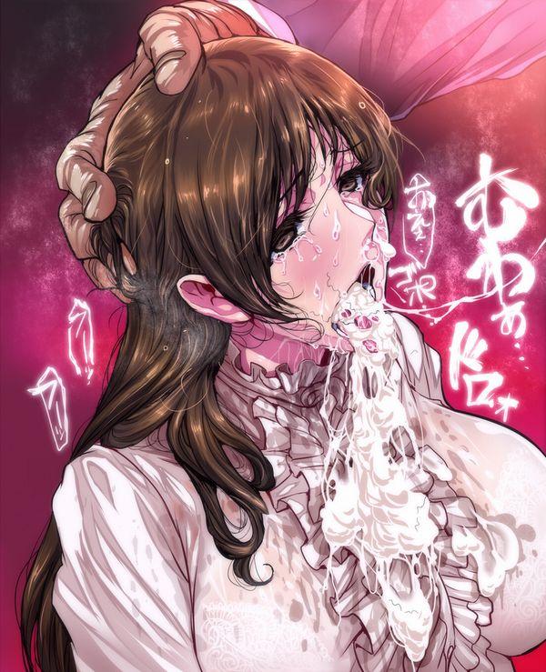 【口やら】意外な場所にチン毛がくっついてる女子達の二次エロ画像【胸やら】【26】