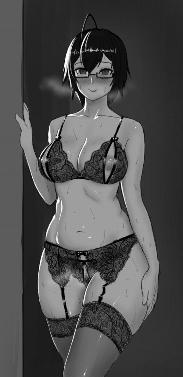 【オバさん恥ずかしいわ///】恥じらう熟女の二次エロ画像【20】
