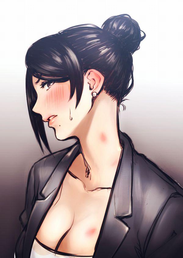 【オバさん恥ずかしいわ///】恥じらう熟女の二次エロ画像【32】