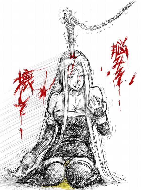 【更なる火種】凄惨な暴行を受けて失禁してる女子の二次リョナ画像【23】