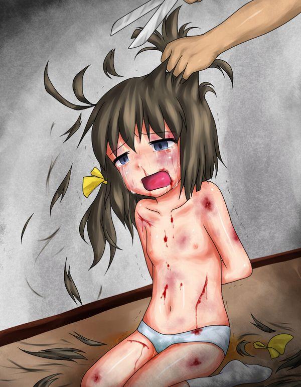 【更なる火種】凄惨な暴行を受けて失禁してる女子の二次リョナ画像【28】