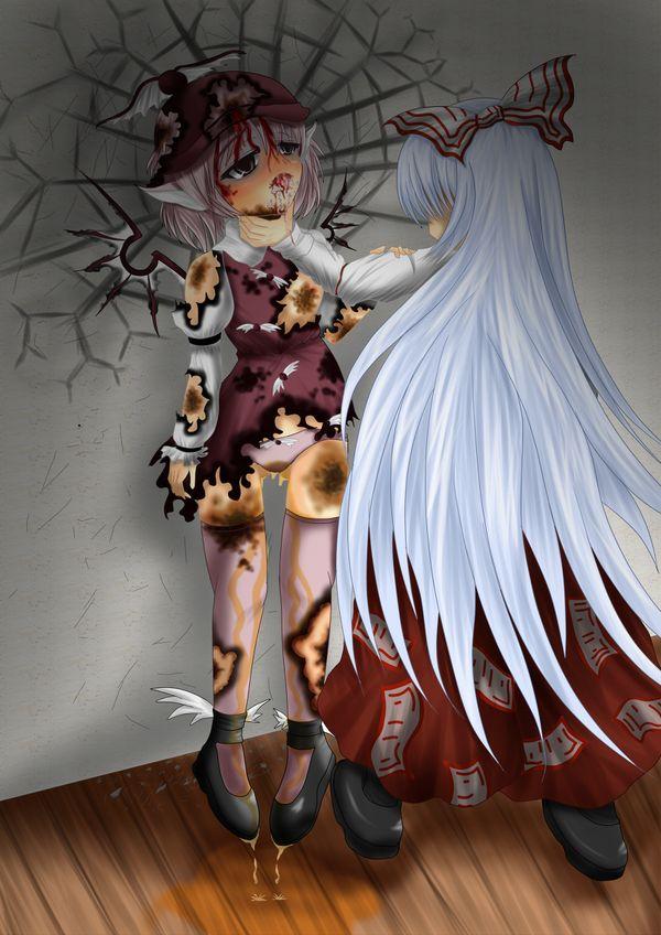【更なる火種】凄惨な暴行を受けて失禁してる女子の二次リョナ画像【29】