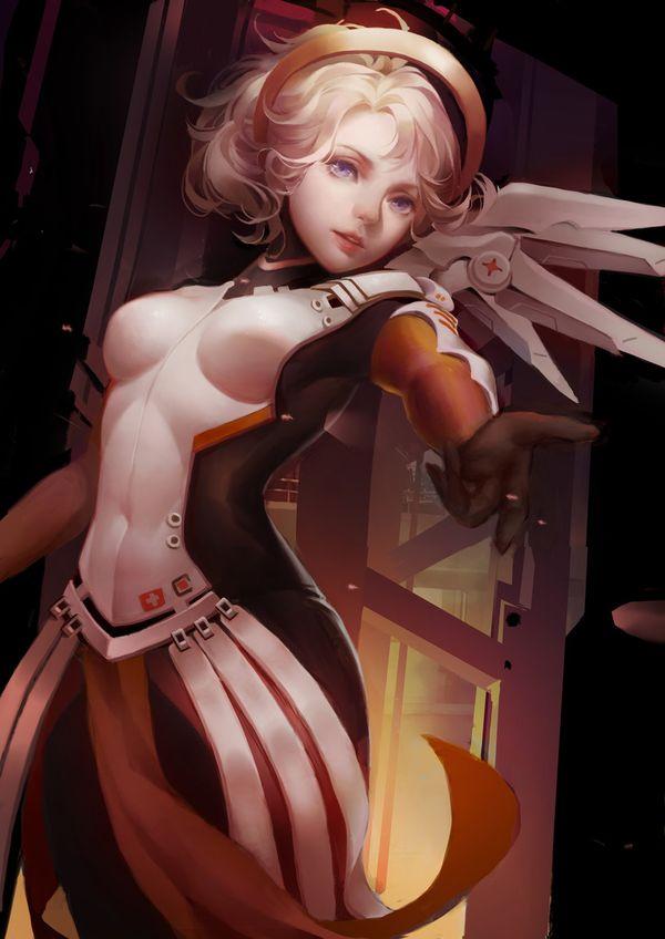 【オーバーウォッチ】マーシー(Mercy)のエロ画像【35】