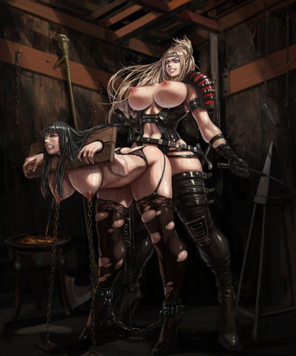 【ガチで痛い奴】一本鞭で打たれる女子達の二次エロ画像【2】