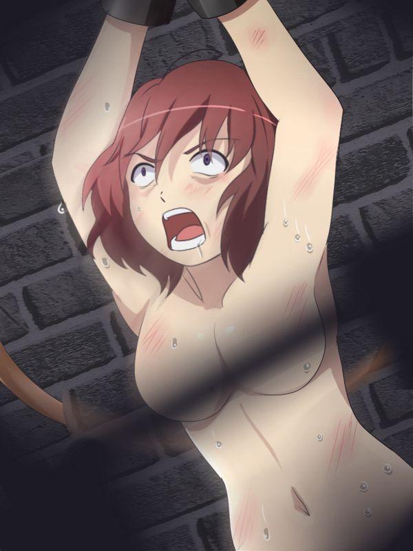 【ガチで痛い奴】一本鞭で打たれる女子達の二次エロ画像【7】