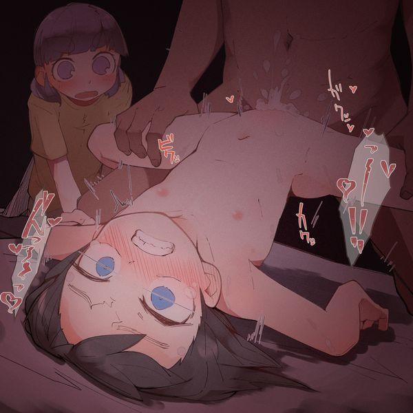 【闇深】少女とオッサンがセックスしてる二次ロリ画像【19】
