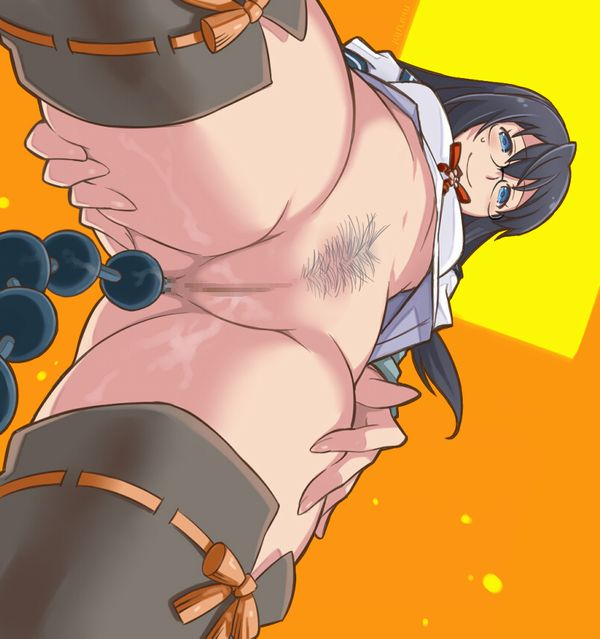 【駄菓子じゃないよ?】肛門からアナルビーズ垂らしてる女子達の二次エロ画像【27】