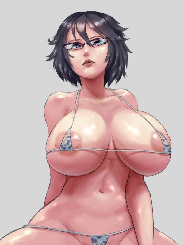 【ほぼ巨乳専用衣装】牛柄のビキニ着けたウシ乳女子達の二次エロ画像【7】