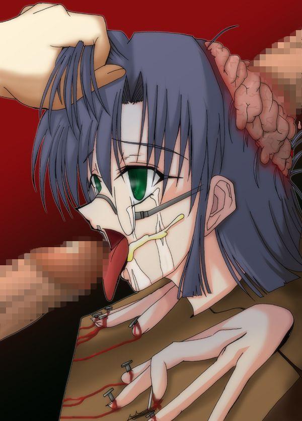 【経験人数的にはノーカン】脳姦してる二次エログロ画像【15】