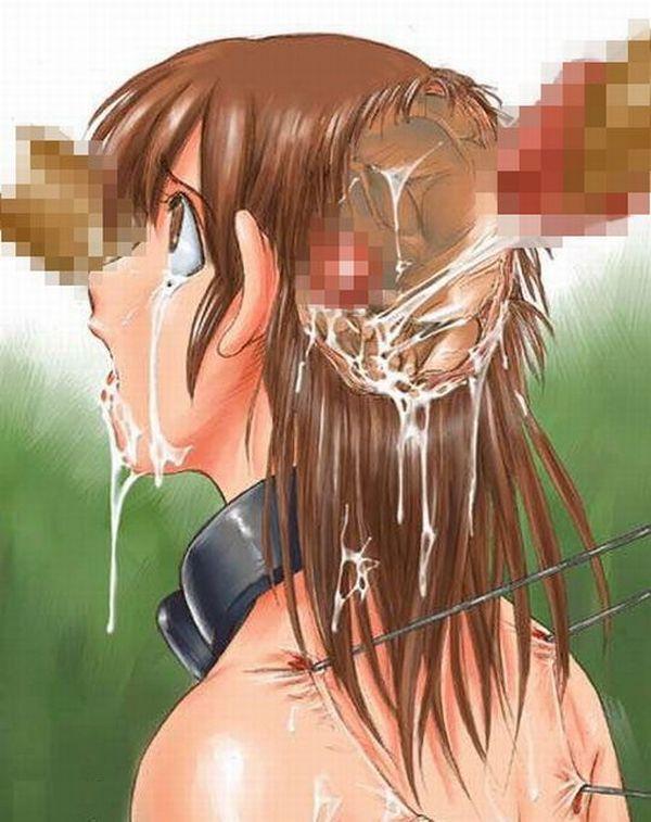 【経験人数的にはノーカン】脳姦してる二次エログロ画像【21】