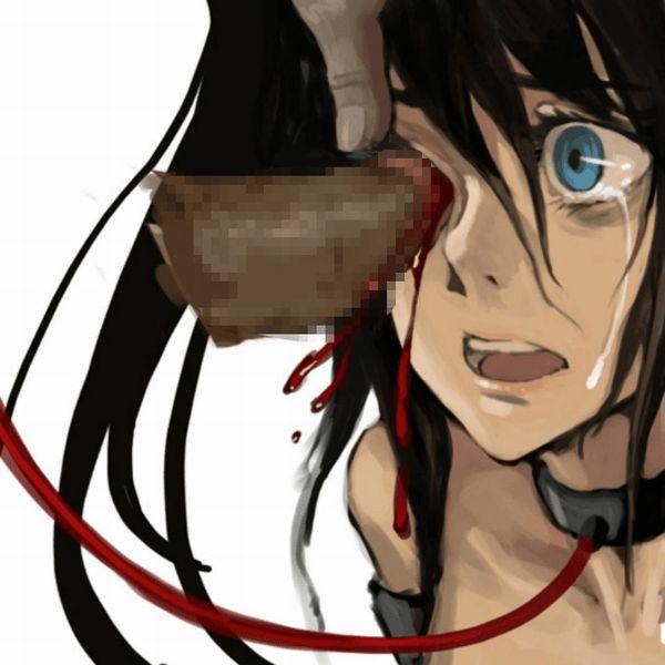 【とっくの昔に】眼孔姦・眼窩姦されてる女子達の二次エログロ画像【義眼じゃよ】【4】