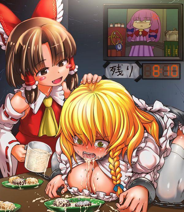 【イジメかな?】女の子が嫌そうな顔してる食ザーの二次エロ画像【11】