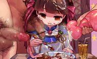 【イジメかな?】女の子が嫌そうな顔してる食ザーの二次エロ画像