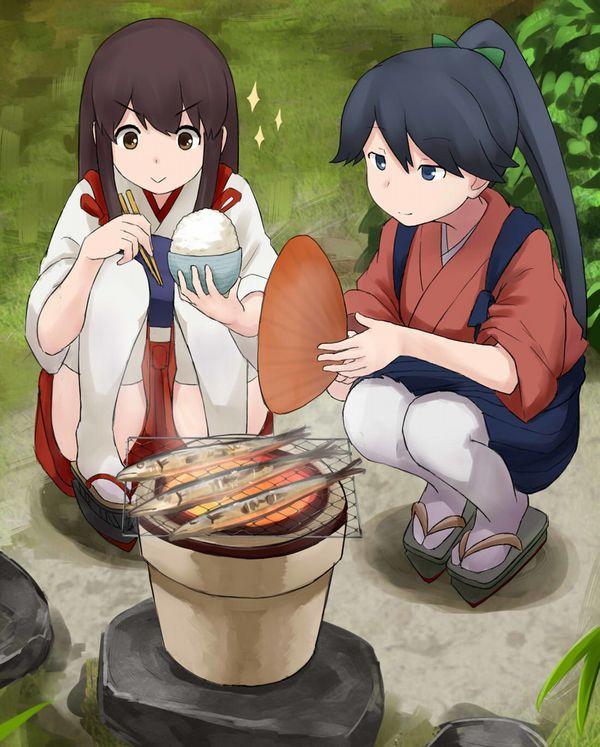 【秋刀魚】秋を感じるサンマと美少女の二次画像【23】