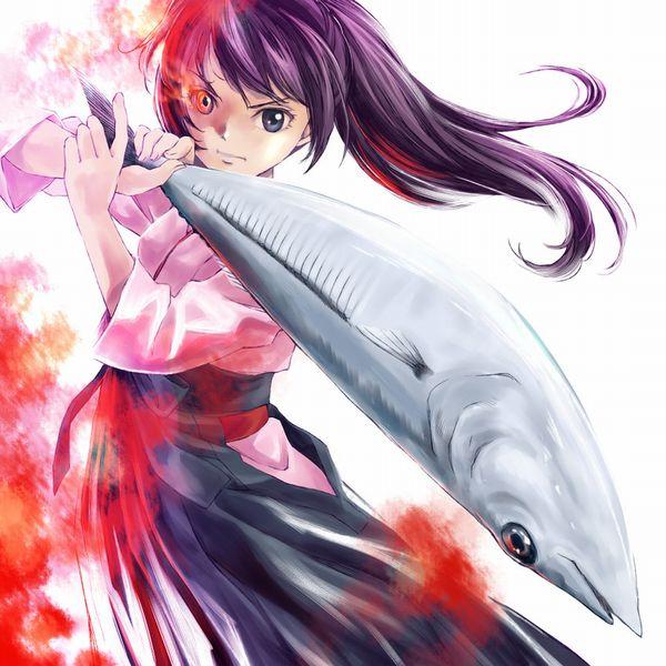 【秋刀魚】秋を感じるサンマと美少女の二次画像【32】