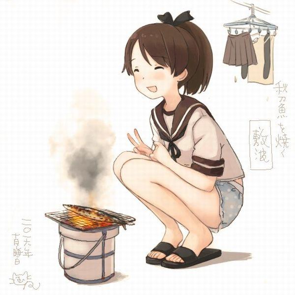 【秋刀魚】秋を感じるサンマと美少女の二次画像【37】