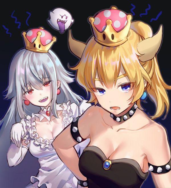【売れっ子コンビ】クッパ姫とキングテレサ姫が2人並んでる二次エロ画像【20】