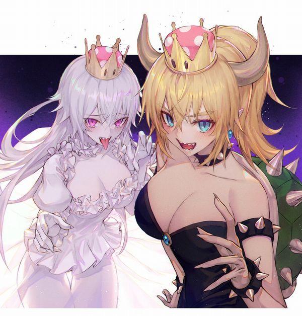 【売れっ子コンビ】クッパ姫とキングテレサ姫が2人並んでる二次エロ画像【43】