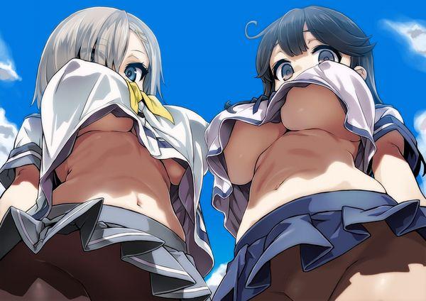 【もしかして】何故かパンツ履いてなかった制服少女達の二次エロ画像【漏らした?】【33】