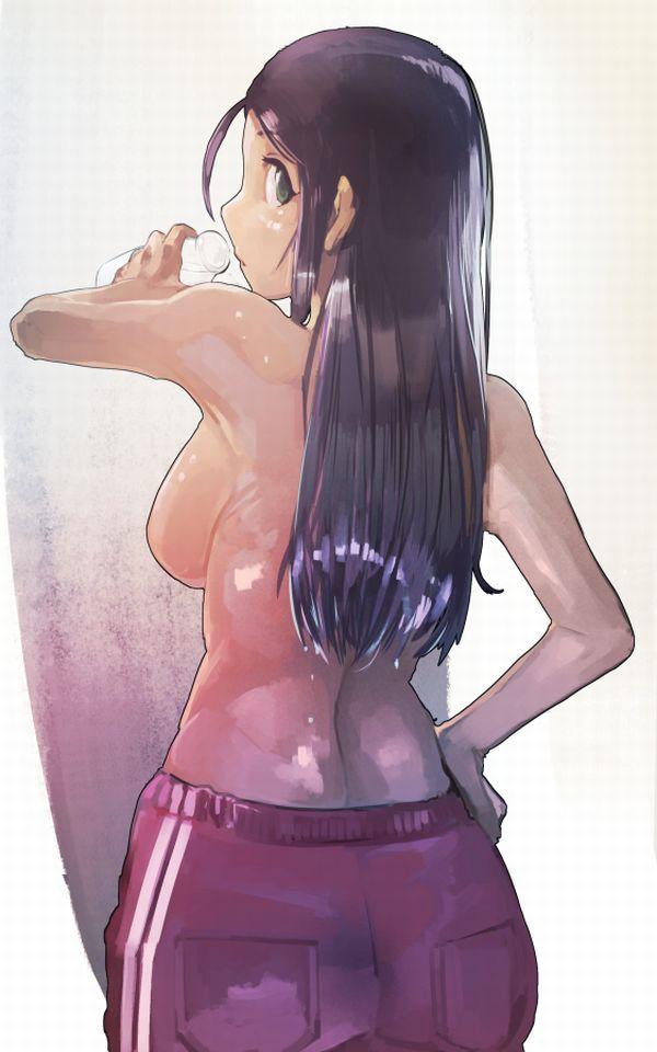 【風呂上り】ビン入り牛乳飲んでる女子達の二次エロ画像【18】