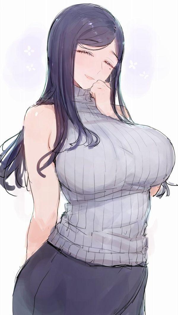 【寒いのか】ノースリーブタートルネックセーターの二次エロ画像【暑いのか】【15】