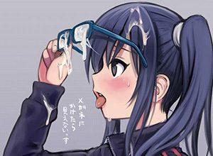 【メガネぶっかけ】「目に入らないから安心!」遠慮なく顔面に精液を飛ばされる女の子達