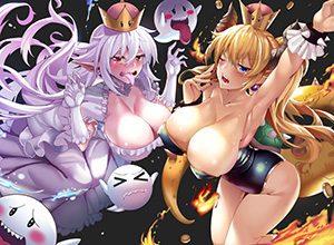 【売れっ子コンビ】クッパ姫とキングテレサ姫が2人並んでる二次エロ画像