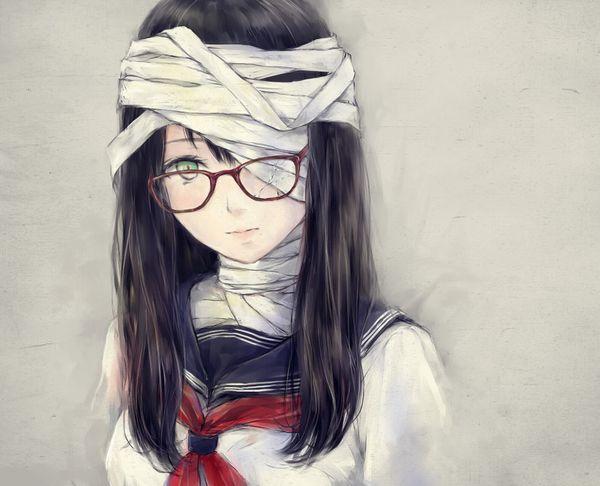 【昭和の漫画的表現】壊れたメガネをかけてる女子達の二次画像【8】